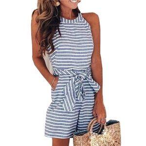 🦋 Lovely Striped Summer Romper shorts 🦋